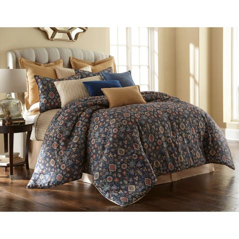 Sherry Kline Theresa Blue 3-piece Comforter Set