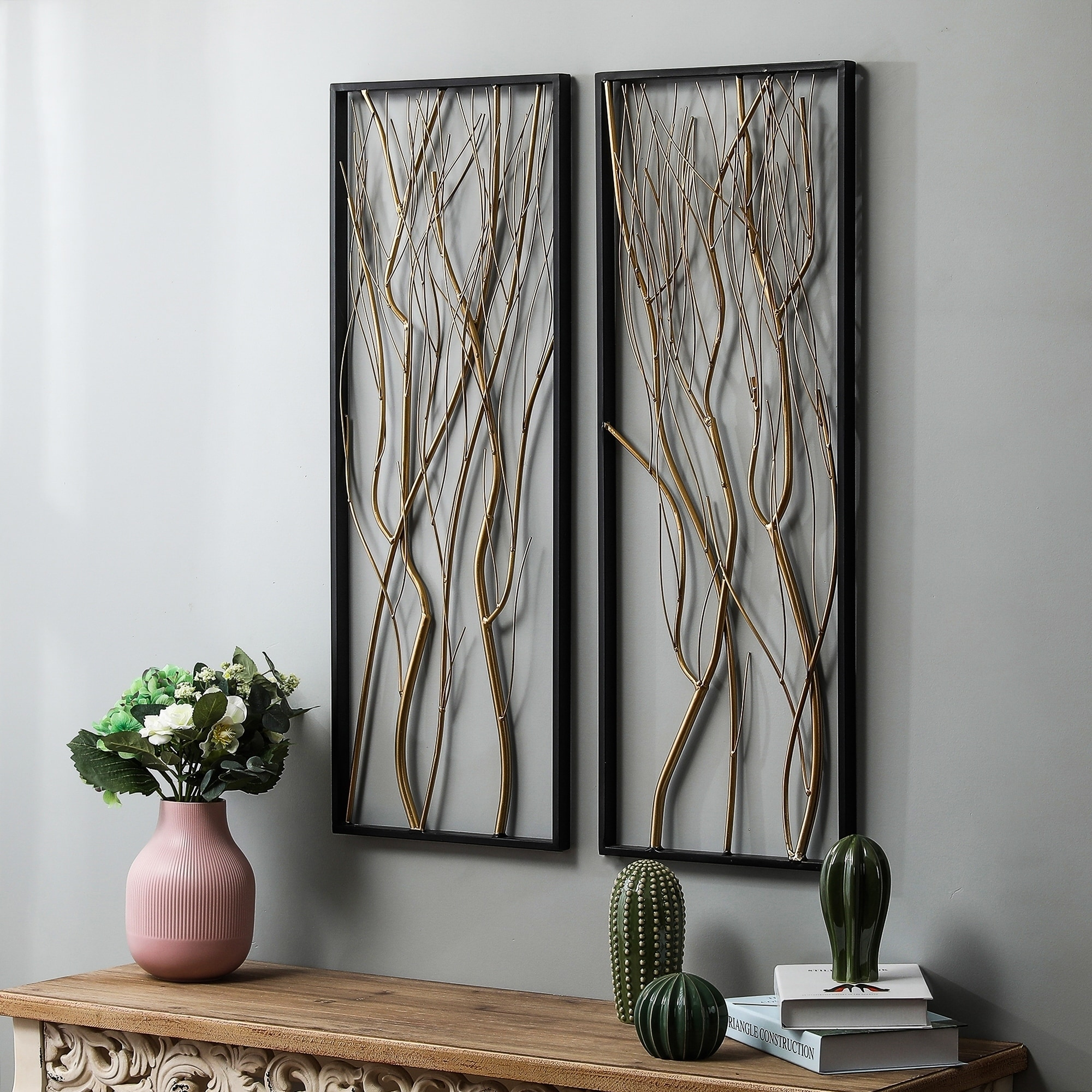 2 Piece Metal Gold Branch Wall Decor Overstock 30932147
