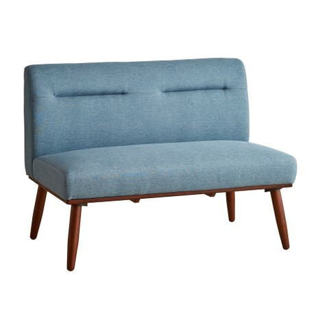 30 In. Mid Century Modern Tufted Loveseat Sofa Ariel Collection