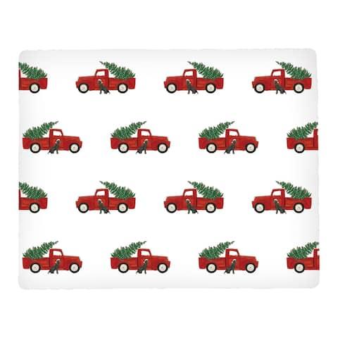 Red Trucks Hardboard Placemat Set of 6 - 12.75 x 16