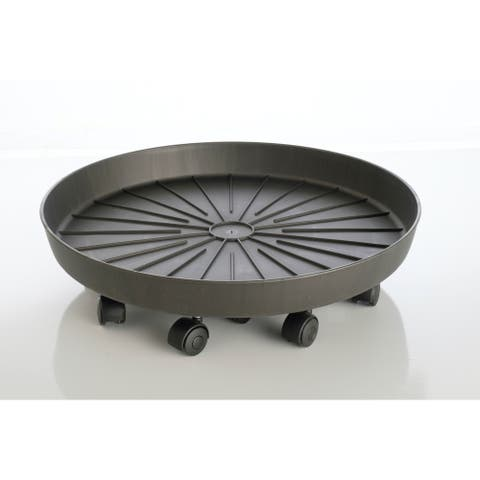 """22"""" Round Saucer with attached rollers - 22"""" x 22"""""""
