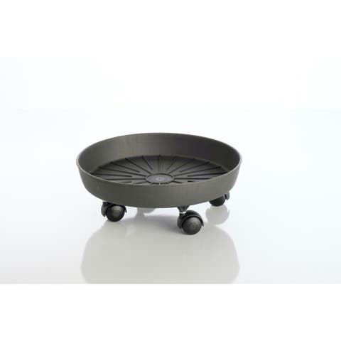 Giada Saucer with attached rollers