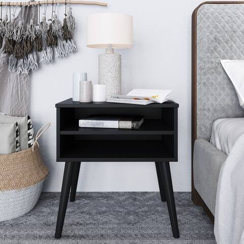 Sleep Sync Rigby Mid Century Modern Wood Nightstand