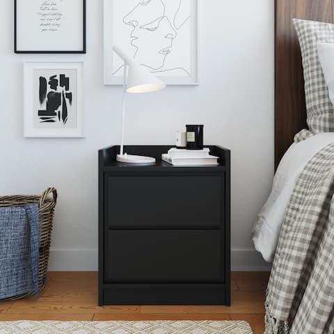 Sleep sync Arbor Mid Century Modern Low Profile Nightstand