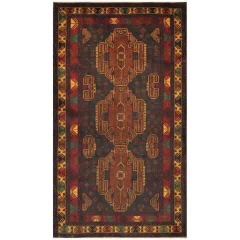 Handmade One-of-a-Kind Balouchi Wool Rug (Afghanistan) - 3'9 x 6'8