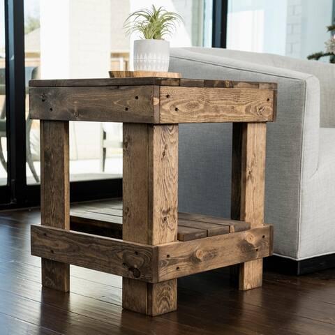 Landmark Pine Wood End Table