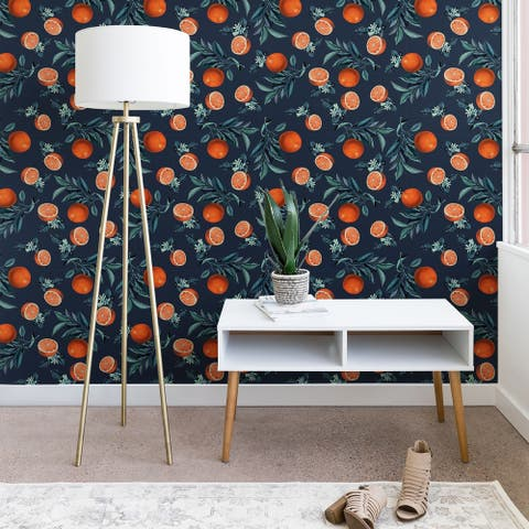 Deny Designs Orange Leaf Wallpaper