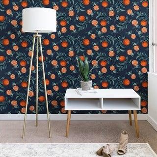 Deny Designs Orange Leaf Wallpaper