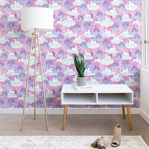 Deny Designs Unicorn and Rainbows Wallpaper