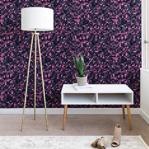 Deny Designs Pink and Grey Squares Wallpaper