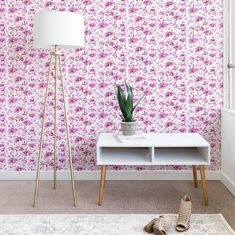 Deny Designs Lovely Floral Pink Wallpaper