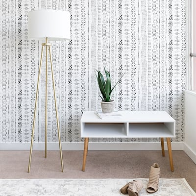 Deny Designs Modern Mudcloth Snow Wallpaper