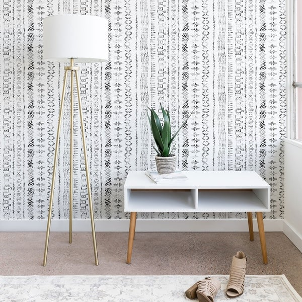 Deny Designs Modern Mudcloth Snow Wallpaper. Opens flyout.