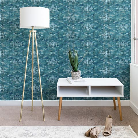 Deny Designs Mudcloth Turquoise Wallpaper