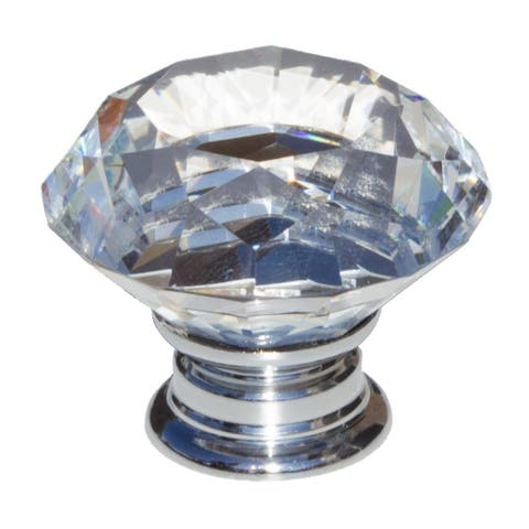 GlideRite 5-Pack 1-5/8 in. Diamond Crystal Cabinet Knobs - Polished Chrome