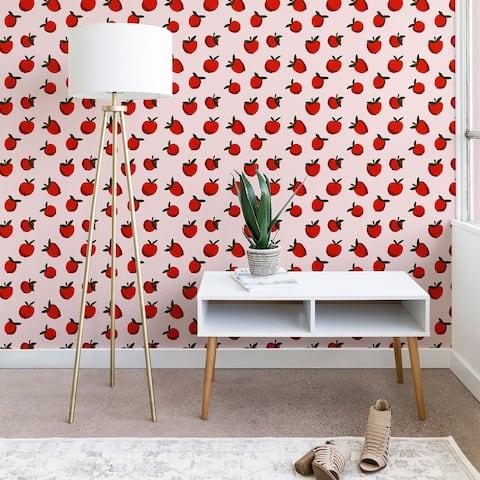 Deny Designs Red Apples Wallpaper