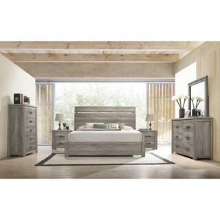 Link to The Gray Barn Rousham Garden Weathered Grey Wood 6-piece Bedroom Set Similar Items in Bedroom Furniture