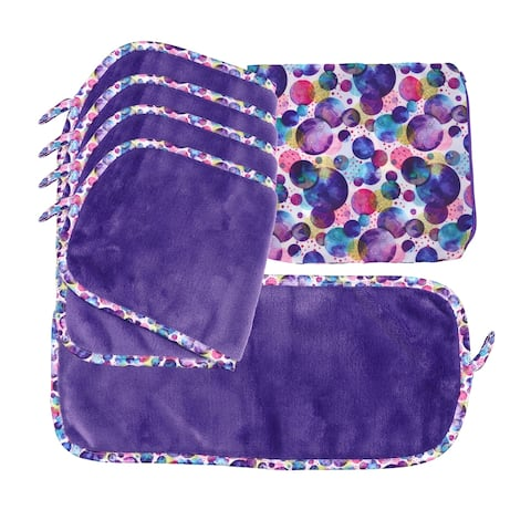 Arkwright Makeup Remover Cloths (5 Cloths & 1 Bag) in a Decorative Box - 7.5 x 15.5 in.