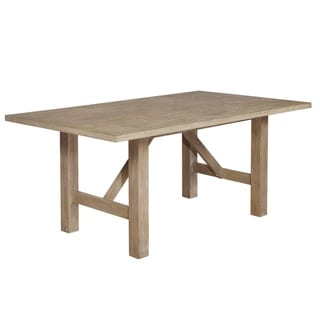 Link to Best Quality Furniture Rustic Beige Rectangle Dining Table Only Similar Items in Dining Room & Bar Furniture