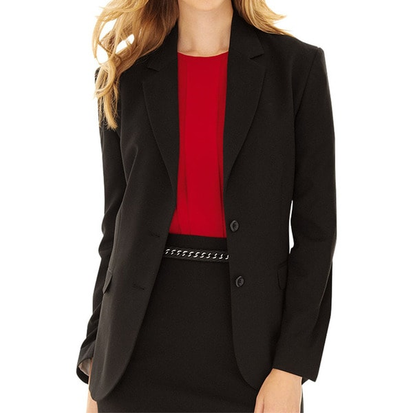 Affinity Apparel Ladies' 2-button Black Blazer Size 10 - 4 Pocket (As Is Item). Opens flyout.