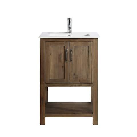 """Austin 24"""" Single Sink Vanity in Walnut"""