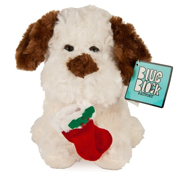 "Very Soft Stuffed Animal Plush Toy, White Dog Puppy - 9'6"" x 13'. Opens flyout."