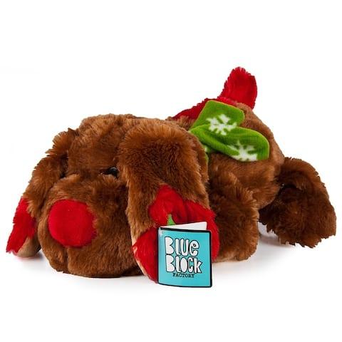 "Very Soft Stuffed Animal Plush Toy, Brown Puppy - 9'6"" x 13'"