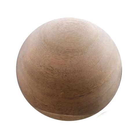 D-Art Decorative Stress Relief Mahogany Wooden Ball - Natural