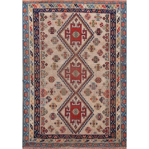 """Pre-1900 Antique Vegetable Dye Lori Persian Area Rug Hand-Knotted - 3'4"""" x 4'8"""""""