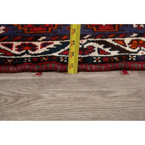 "Geometric Tribal Shiraz Persian Home Decor Area Rug Handmade Carpet - 3'7"" x 5'1"""