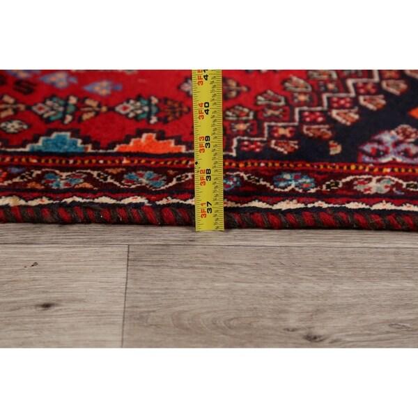 "Tribal Geometric Abadeh Nafar Persian Area Rug Handmade Carpet - 2'8"" x 5'7"""