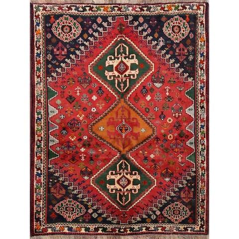 "Vegetable Dye Abadeh Nafar Persian Area Rug Handmade Foyer Carpet - 3'11"" x 5'3"""