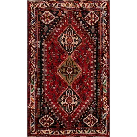 "Vegetable Dye Abadeh Nafar Persian Area Rug Handmade Wool Carpet - 3'8"" x 5'2"""