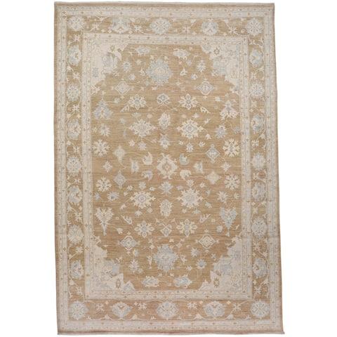 "Muted Floral Oushak Turkish Home Decor Area Rug Handmade Carpet - 9'3"" x 12'11"""