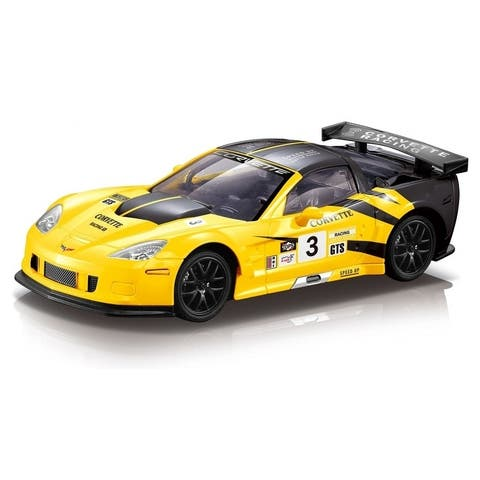 1/18 scale Corvette C6R with racing decals Yellow