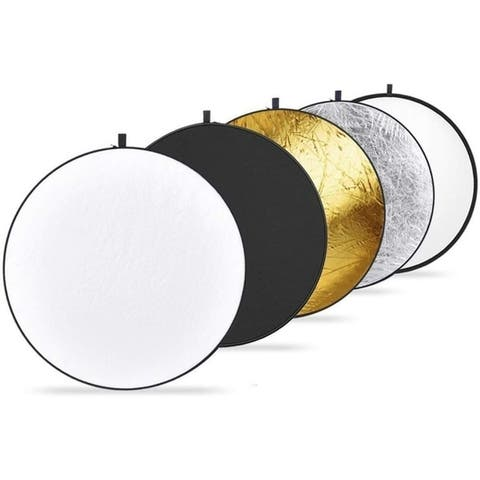 """Photography Collapsible Multi-Disc Light Reflectors, 24""""(60cm) 5-in-1"""