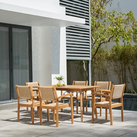 Chesapeake Outdoor Natural 7-Piece Wood Dining Set