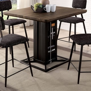 Link to Furniture of America Pren Industrial Walnut Wood Counter Height Table Similar Items in Dining Room & Bar Furniture