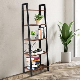 Link to 5 Tiers Industrial Ladder Shelf, Vintage Bookshelf, Storage Rack Shelf Similar Items in Bookshelves & Bookcases