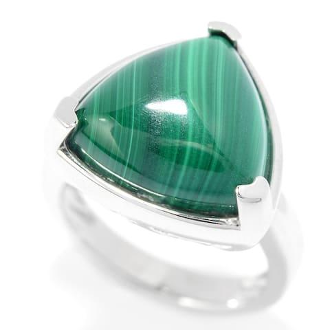 925 Sterling Silver Malachite Ring