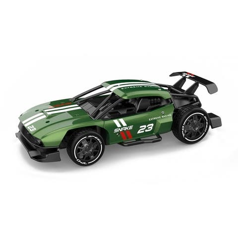 1/24 scale Alloy racing car with 2.4 GHz remote rechargeable batteries and metal body panels