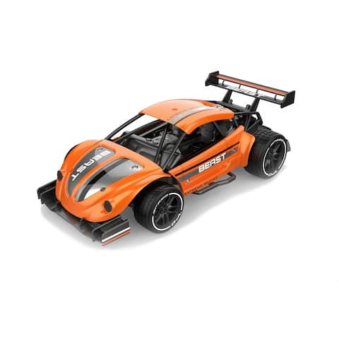 1/16 scale Alloy racing car with 2.4 GHz remote rechargeable batteries and metal body panels