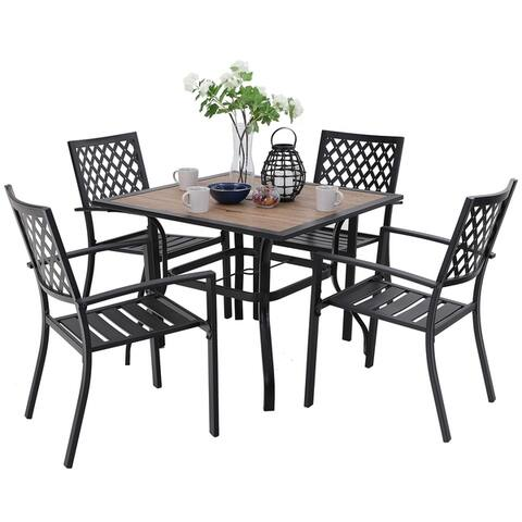 Buy Metal Outdoor Dining Sets Online At Overstock Our Best Patio Furniture Deals