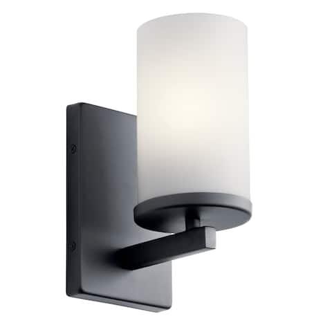 Kichler Lighting Crosby 1-Light Wall Sconce Black