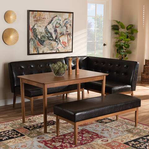 Carson Carrington Isaksbo Mid-century Modern 4-piece Dining Nook Set