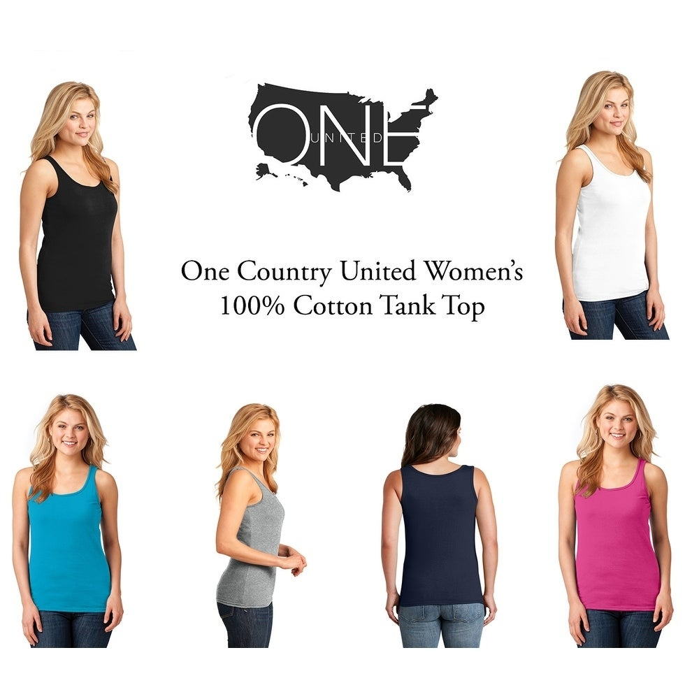 One Country United Womens Cotton Tank Top