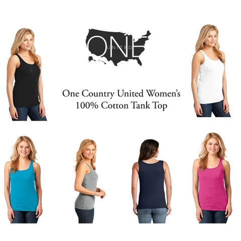 One Country United Women's Cotton Tank Top