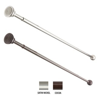 """InStyleDesign Decorative 7/16"""" Spring Tension Rod 24-36 inch"""