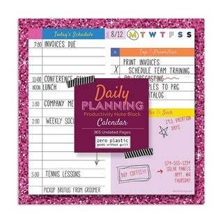 Link to Bright Undated Daily Planning NoteBlock - Chunky Daily Listpad Similar Items in Planners & Accessories