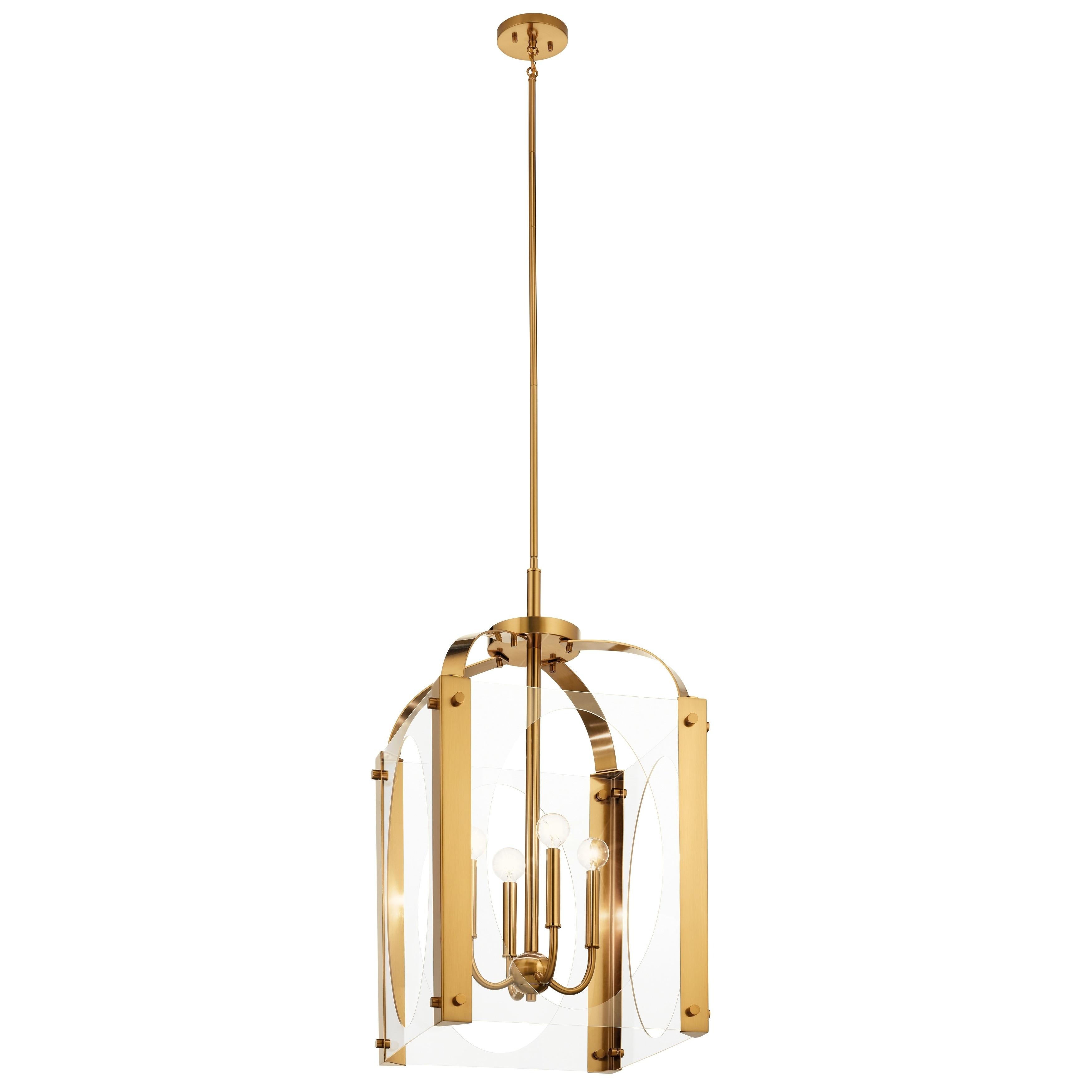 Shop Kichler Lighting Pytel 4 Light Large Foyer Pendant Fox Gold Overstock 30943696